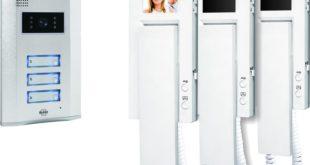 Türsprechanlage - Elro VD63 3-Familien-Videotürsprechanlage mit 2.4 Zoll (5.5 cm) TFT Farbmonitoren